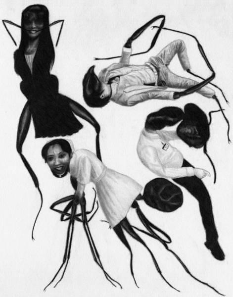 Drawing - Victims Of Karoshi - Artwork by Ryan Nieves