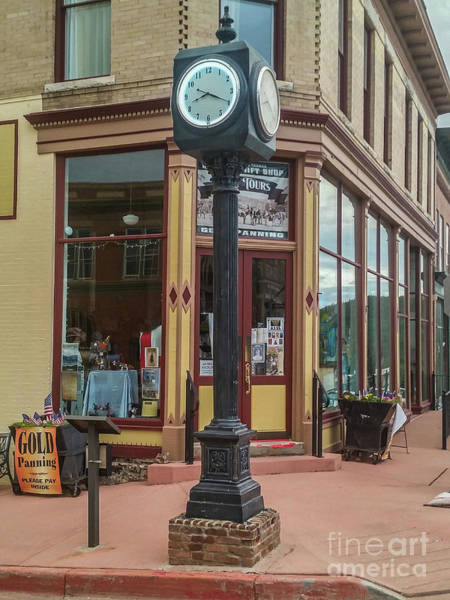 Wall Art - Photograph - Victor Town Clock by Tony Baca