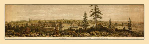 Photograph - Victoria British Columbia 1860 by Andrew Fare