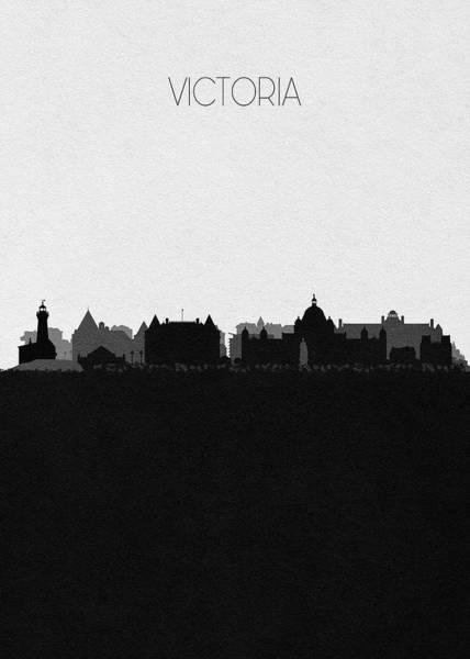 Victoria Tower Wall Art - Digital Art - Victoria Cityscape Art by Inspirowl Design