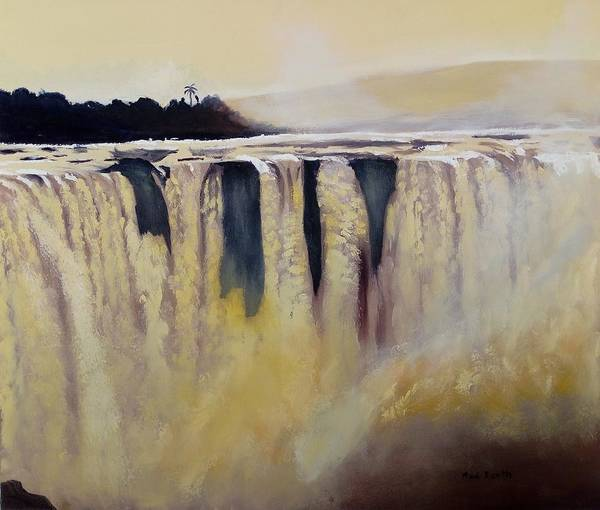 Victoria Falls Painting - Victoria Falls Zimbabwe Waterfall by Mark Booth