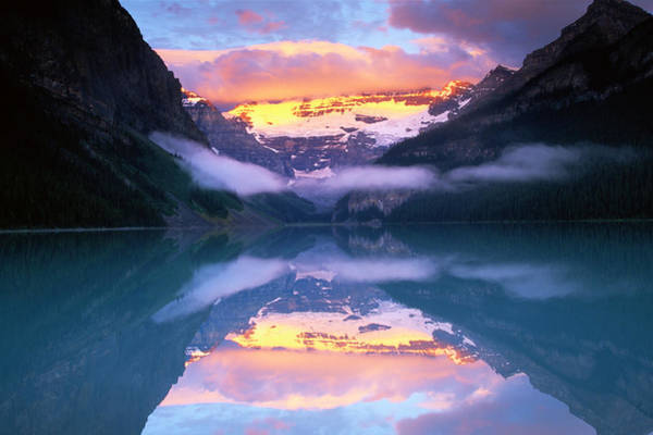 Art In Canada Photograph - Victoria Glacier In Lake Louise, Canada by Art Wolfe