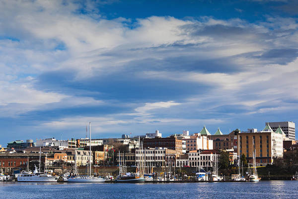 Victoria Harbor Wall Art - Photograph - Victoria, Inner Harbour Buildings by Walter Bibikow