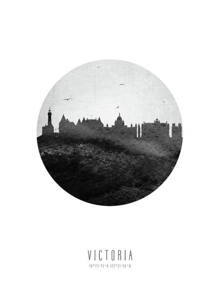 Wall Art - Digital Art - Victoria Skyline Cabcvi04 by Aged Pixel