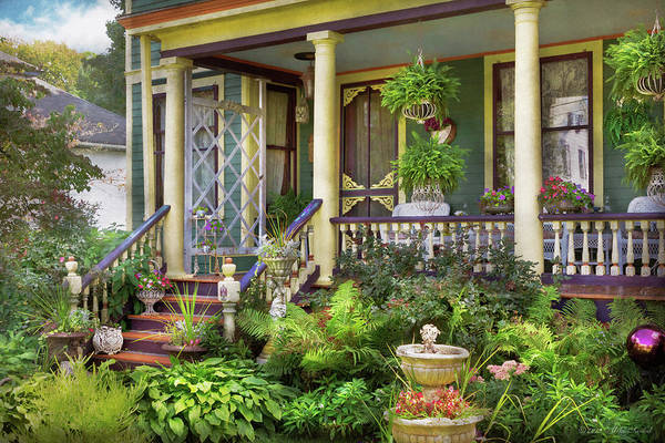 Photograph - Victorian - Bevidere Nj - A Summer's Cottage by Mike Savad