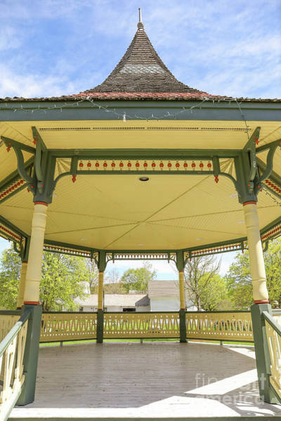 Wall Art - Photograph - Victorian Gazebo Bandstand New Boston New Hampshire by Edward Fielding