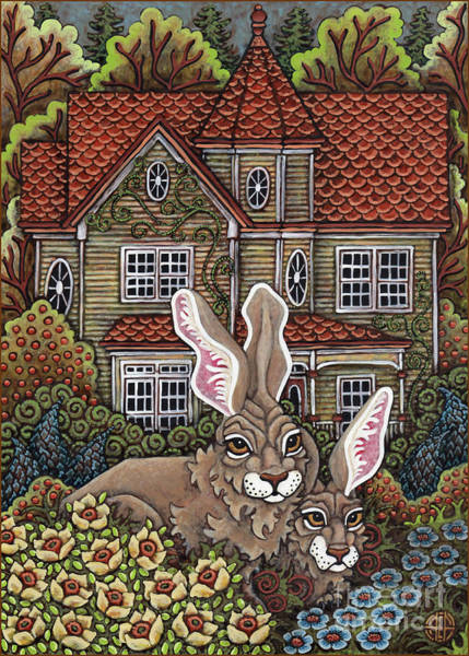 Painting - Victorian Hares 1 by Amy E Fraser