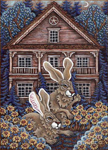 Painting - Victorian Hares 4 by Amy E Fraser