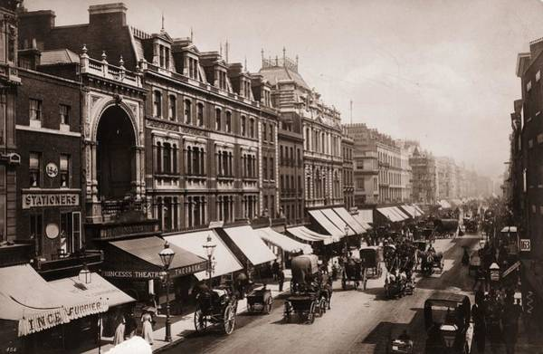 Shopping Districts Wall Art - Photograph - Victorian London by London Stereoscopic Company