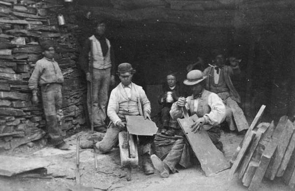 Work Of Art Photograph - Victorian Masons by Otto Herschan Collection
