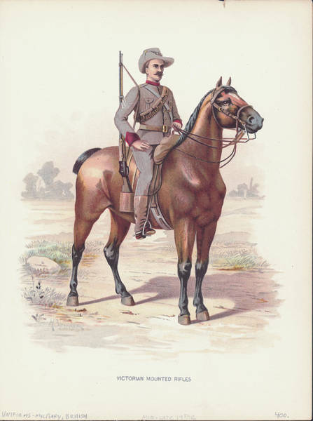 Australia Digital Art - Victorian Mounted Rifles Soldier by Kean Collection
