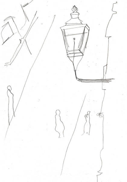 Drawing - Victorian Street Lamp by Artist Dot