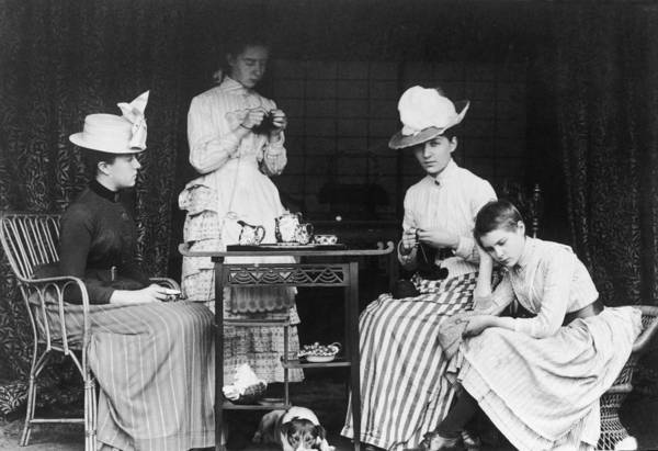 Teapot Photograph - Victorian Teatime by Hulton Archive
