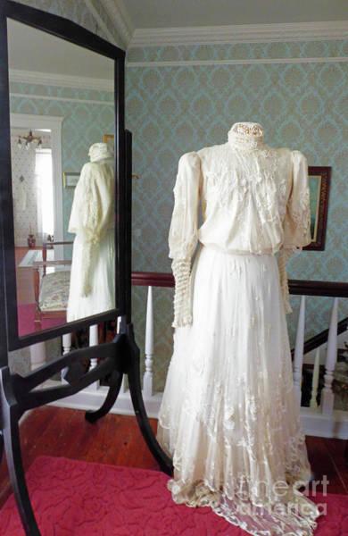 Wallpaper Mixed Media - Victorian Wedding Dress by Sharon Williams Eng