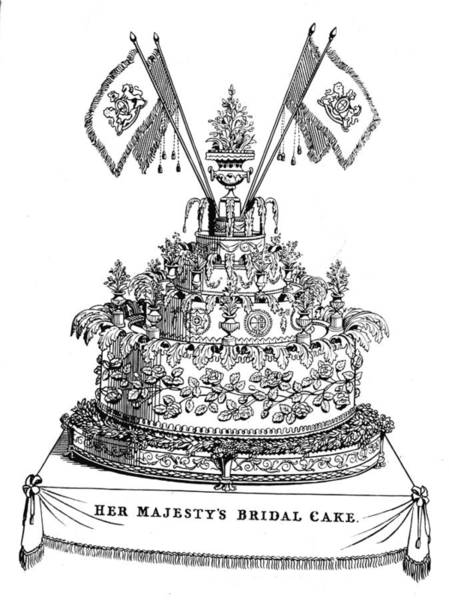 Wedding Cake Photograph - Victorias Wedding Cake by Hulton Archive