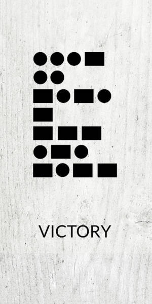 Wall Art - Digital Art - Victory Morse Code 2- Art By Linda Woods by Linda Woods