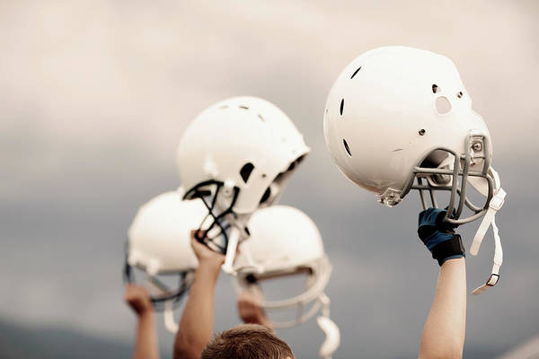Football Helmet Photograph - Victory by Richvintage