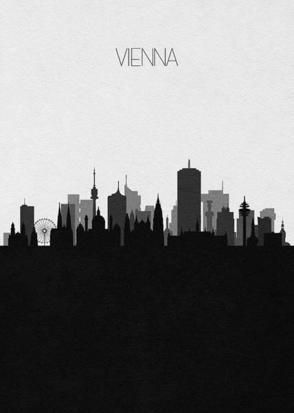 Digital Art - Vienna Cityscape Art by Inspirowl Design