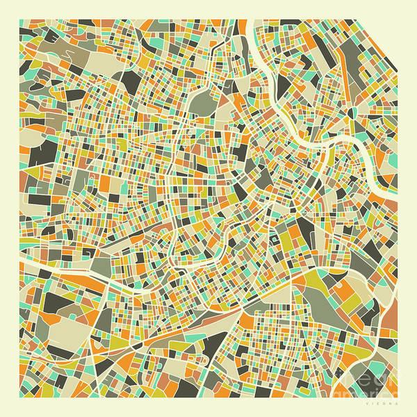 Vienna Map 1 Art Print