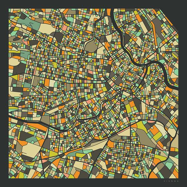 Vienna Map 2 Art Print