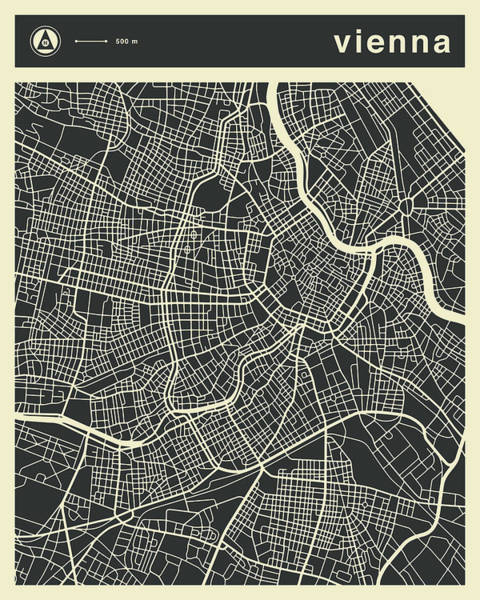 Vienna Map 3 Art Print