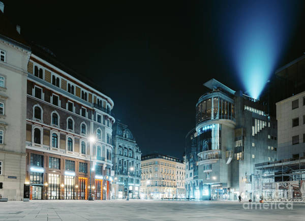 Wall Art - Photograph - Vienna Night Magic by JR Photography
