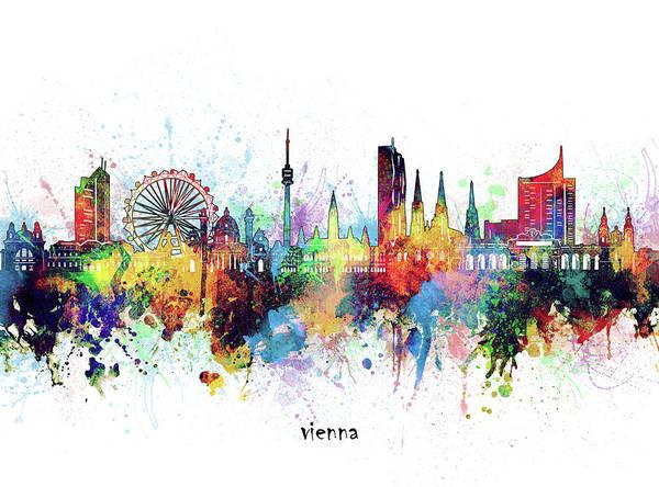 Wall Art - Digital Art - Vienna Skyline Artistic by Bekim M