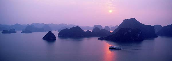 Vietnam, Gulf Of Tonkin, Halong Bay Art Print by Andrea Pistolesi