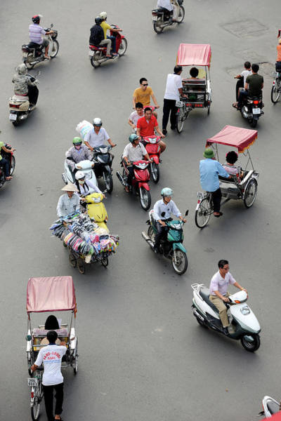 Bertrand Photograph - Vietnam, Hanoi, Old Town, Traffic On by Rieger Bertrand