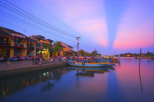 Hoi An Photograph - Vietnam, Hoi An, Tourist Boats By Thu by Design Pics / Carson Ganci