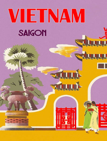 Wall Art - Digital Art - Vietnam, Saigon City by Long Shot