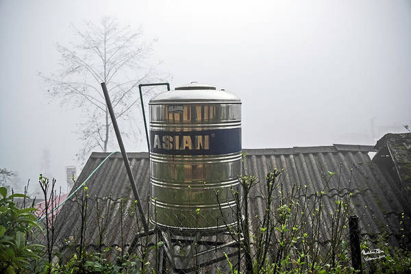 Wall Art - Photograph - Vietnam Style Water Tower by Madeline Ellis