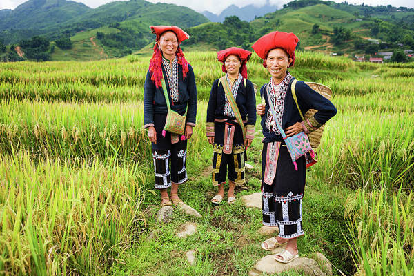 Chinese Clothing Wall Art - Photograph - Vietnamese Minority People - Women From by Hadynyah