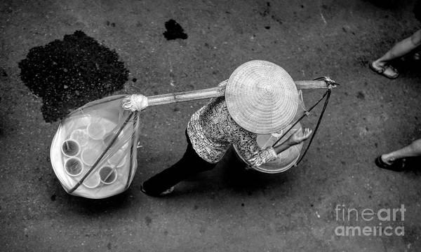 Wall Art - Photograph - Vietnamese Woman Daily Life Streets Of Hanoi by Chuck Kuhn