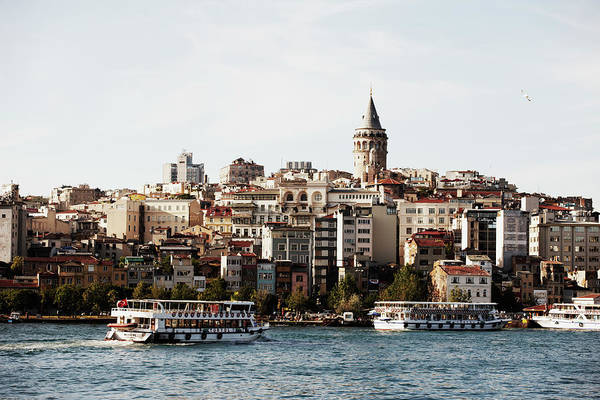 Galata Photograph - View Across The Bospherus,istanbul by Gary Yeowell