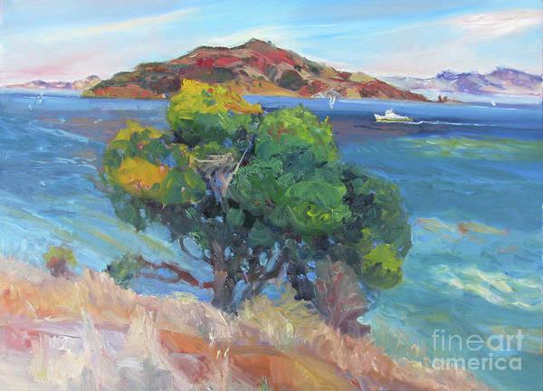 Angel Oak Painting - View, Angel Island by John McCormick