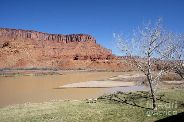 Photograph - View From A Cabin At Sorrel River Ranch On The Colorado River Ne by William Kuta
