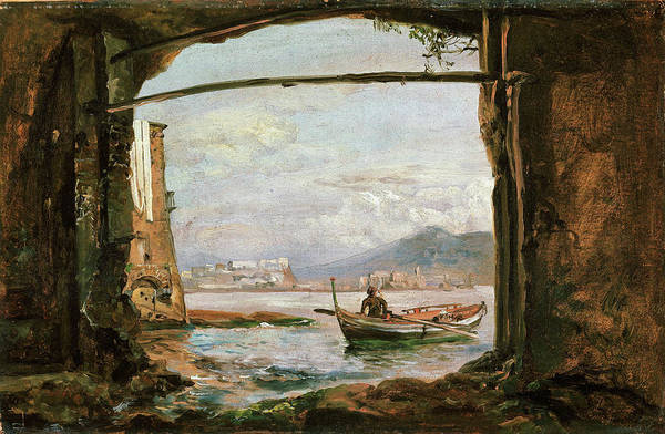 Wall Art - Painting - View From A Grotto Near Posillipo - Digital Remastered Edition by Johan Christian Dahl