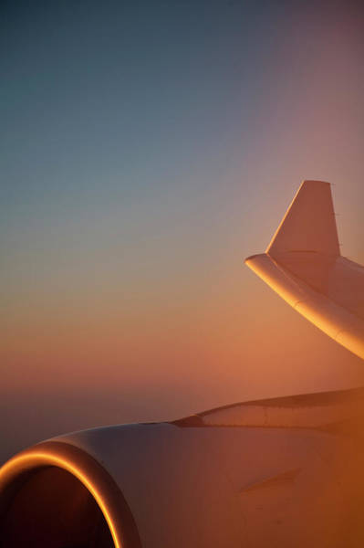 Wall Art - Photograph - View From Airplane Window At Sunrise by Johanna Schmidt