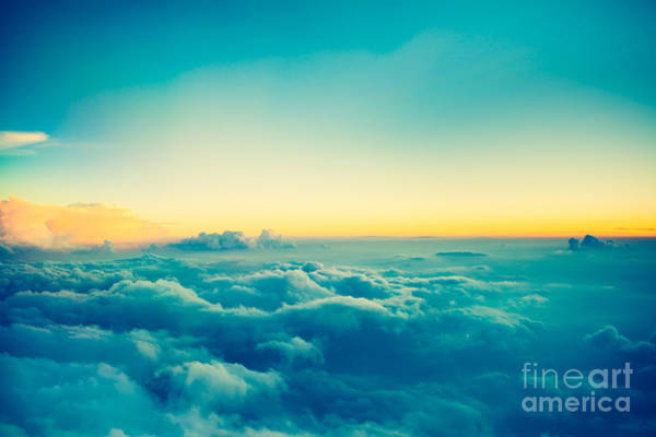 Wall Art - Photograph - View From Airplane Window To See Sky On by Blur Life 1975