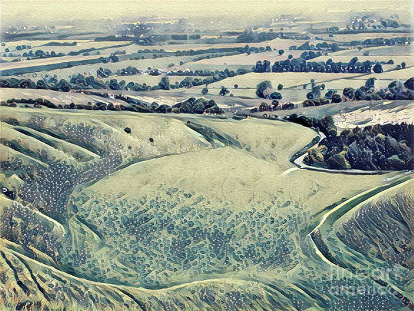 Wall Art - Digital Art - View From An Escarpment by John Edwards