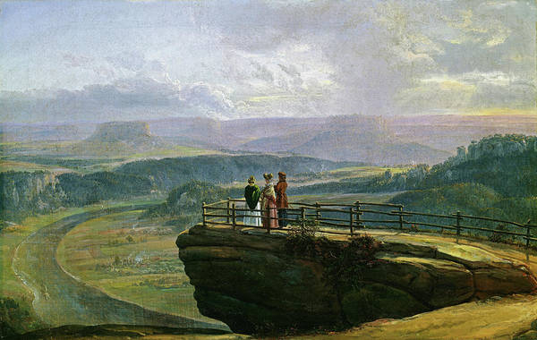 Wall Art - Painting - View From Bastei - Digital Remastered Edition by Johan Christian Dahl