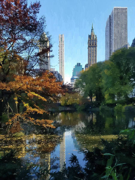 Painting - View From Central Park - Dwp 54539459 by Dean Wittle