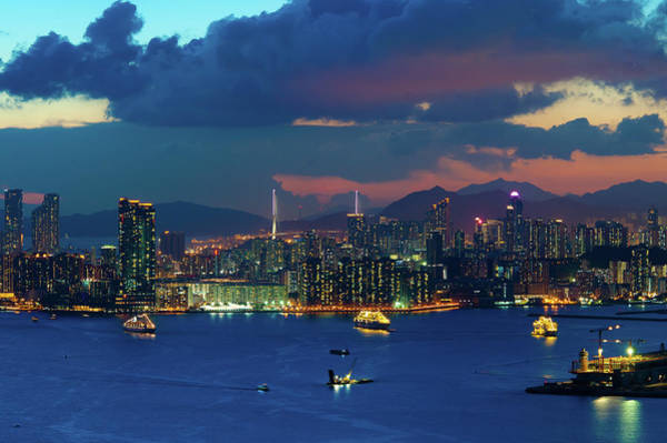 Kowloon Photograph - View From Devil Hill, Hong Kong by Photography By W.t.lai
