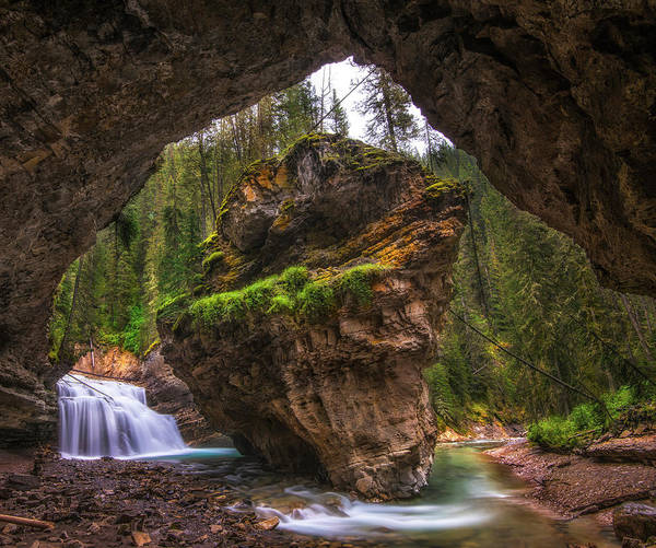 Wall Art - Photograph - View From Inside A Cave In Banff by Jonathan Tucker