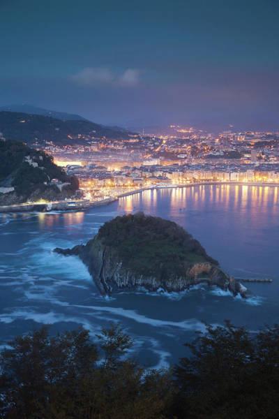 San Sebastian Photograph - View From Monte Igueldo by Walter Bibikow