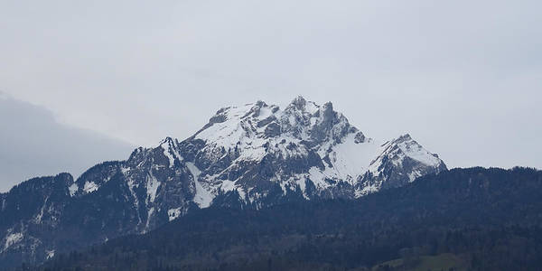 Photograph - View From My Art Studio - Pilatus - March 2018 by Manuel Sueess