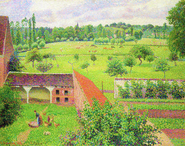 Felicitous Wall Art - Painting - View From My Window, Eragny-sur-epte - Digital Remastered Edition by Camille Pissarro