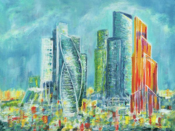 Painting - View From My Window-moscow by Stan Sweeney