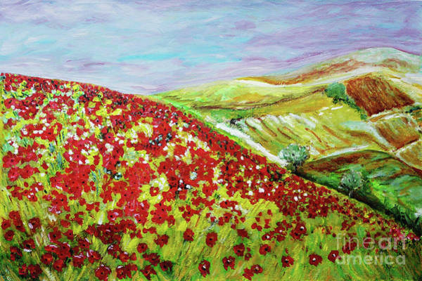 Wall Art - Painting - View From Poppies Hill by Jasna Dragun